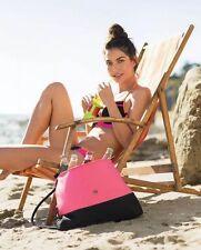 Victoria's Secret Limited Edition BEACH COOLER Tote Bag Purse 2016 Pink/Blk $65!