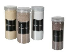 4 x Deko-Sand Dekosand Naturtöne feinkörnig 4-farbig je 400 Gramm ca. 1,6 kg NEU