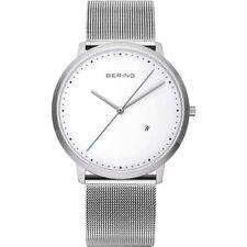 Relojes de pulsera Classic plata resistente al agua