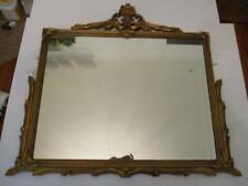 "Antique 26"" x 34"" Ornate Giltwood Framed Mirror"