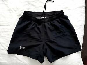Under Armour Mens Running Shorts Black Size M