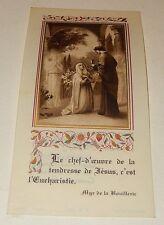 Image Pieuse  : Le chef-d'oeuvre de la tendresse de Jésus, c'est l'eucharistie