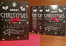 New Holiday Christmas Card Set of 4 With Envelopes Happy Holiday's 5 x 7 Inch