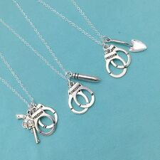 3 Partners in Crimes Necklaces. Sisters, BFF or Friendship Necklaces.
