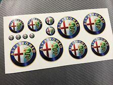 Kit 14 Adesivi Stickers ALFA ROMEO Old Color Varie Misure