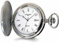 Charles Hubert Stainless Steel White Dial with Date Pocket Watch XWA835