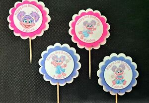 Abby Cadabby Party 3-D Personalized Cupcake Toppers Birthday Baby Shower