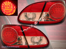 2003-2008 TOYOTA COROLLA LED TAIL LIGHTS RED CLEAR