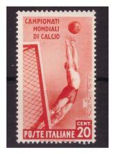 REGNO 1934 - MONDIALI DI CALCIO Cent. 20 NUOVO **