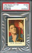 """1962 Dutch Gum Card """"CA"""" Set #CA55 ELVIS PRESLEY Playing Guitar PSA 3 Rare"""