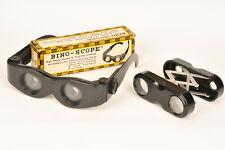 Vintage Plastic Folding Binoculars Viewers - Binoscope / Selcol Quick-Sight