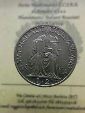 Citta' del Vaticano Pio XII 2 Lire 1942 ac. q FDC