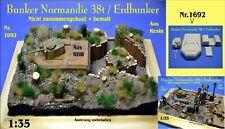 Nr.1692 Bunker Normandie 38t / Erdbunker 1:35 für Diorama Resin