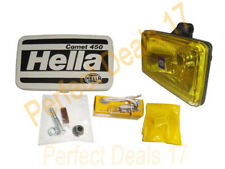 2 X HELLA COMET 450 YELLOW 12V H3 DRIVING SPOTLIGHT - FOG LAMP - UNIVERSAL FIT