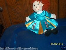 ALLIED RED HAIRED CLOTH BABY DOLL GIRL PLUSH SATIN DRESS