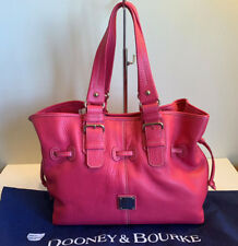DOONEY & BOURKE MEDIUM CHIARA Pebble Leather Satchel Bag PINK $398