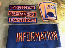 Original Vintage Worlds Fair patches, insignia, badges from 1939-1940
