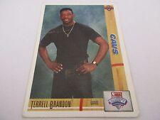 Carte NBA UPPER DECK 1991-92 #6 Terrell Brandon Cleveland Cavaliers