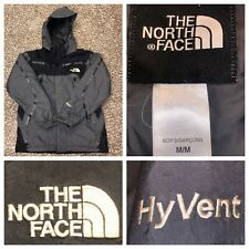 The North Face Boy's Gray & Black Hyvent Full Zip Ski Hooded Jacket Size Medium