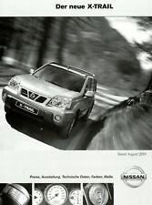 0072NI Nissan X-Trail Preisliste 2001 8/01 deutsche Ausgabe price list