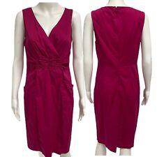 Tahari Pink Pencil Supplice 2 Pocket Dress Size 10