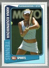 Anna Kournikova 2003 All Sports Magazine Perforated Platinum RC 1 of 50 Rare
