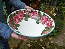 More details for antique original robert heron & sons wemyss large bowl with rose design