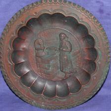 Vintage Italian Ricordo D'Abruzzo hand made wall decor copper plate