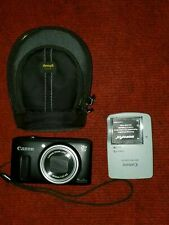 Canon Powershot SX260 HS Black, Case, 2 Batteries Charger & SD Card