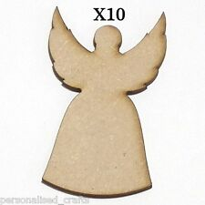 X10 Wooden MDF 80mm Christmas Angel Wings Decorations Embellishments Card Making