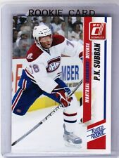 10-11 2010-11 DONRUSS P.K. SUBBAN RATED ROOKIE RC 252 MONTREAL CANADIENS