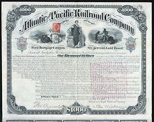 1881 Atlantic and Pacific Railroad Company - $1000 Gold Bond
