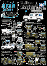 Star Decals 35-C1028, Decals for Balkan Peacekeepers #5.British Land Rover, 1:35