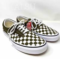Sneakers Mens VANS ERA Checkerboard Beech Dark Green White All Sizes VN0A4BV4VXI
