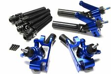 SLASH PLATINUM BLUE ALUMINUM C-HUBS AXLES F/R Shafts Platinum 4x4 Traxxas 6804r