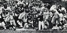 1950's NFL FOOTBALL Baltimore MOORE New York Giants HUFF & STITS Photo Art 11x14