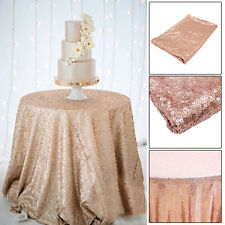 48''x72'' Rose Gold Sparkly Sequin Tablecloth Background Wedding Party Mesh