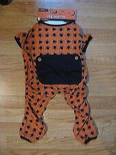 Dog Pajamas Orange with Black Spiders Size M