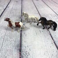 "3 Breyer Reeves Plastic Horse Figures Lot 3"" Tall - Damaged Ears"
