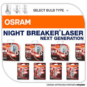 Osram Night Breaker® Laser Next Generation Headlight Bulbs +150% More Brightness