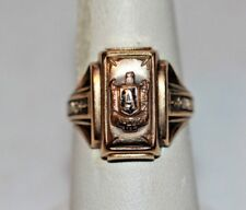 1952 10K Yellow Gold ALLIANCE OHIO High School Class Ring 8 Grams Barbour