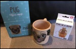 Boxed Pug Mug And Silicone Tea Infuser Bundle Ideal Gift For Pug Dog Lover