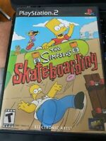 The Simpsons Skateboarding (Sony PlayStation 2, 2002) with Orig Case and Manual