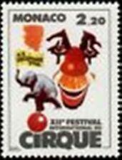 "MONACO STAMP TIMBRE N° 1550 "" FESTIVAL CIRQUE , CLOWN ET ELEPHANT "" NEUF xx LUXE"