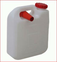 FREEPOST 10 Lt  Water Jerry Can Plastic Camping Storage Container White w pourer