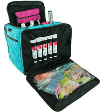 Large Hairdressers Tool Bag, Professional Hair Accessories Kit, Case, Teal