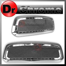 13-16 DODGE RAM Trucks 1500 Front Hood Chrome Rivet Studded+Mesh Grille+Shell