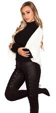 Oversize A Maglia Bolero Cardigan Giacca Cardigan PONCHO BOLERO Bianco 34 36 38
