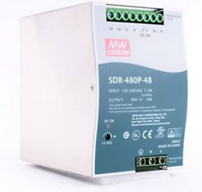 1pc New MEAN WELL Rail Power Supply SDR-480P-48 ( 48V 10A )
