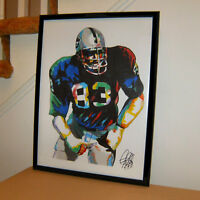 Ted Hendricks Raiders Mad Stork OLB Football Sports Poster Print Wall Art 18x24